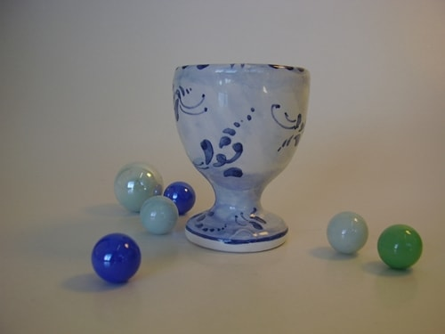 "Egg cup - Bonbonniere in majolica style ""Old Savona"""
