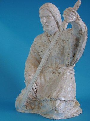 Albisola ceramics by Francesco Guarino - Sacred art - Jesus with the sword